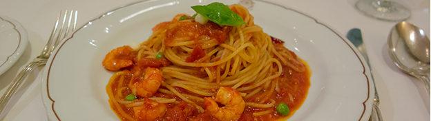 TRASTEVERE Taipei – Spaghetti al Pomodoro con Gamberetti e Mozza