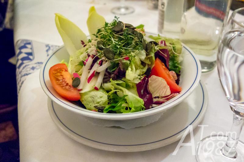 Garden salad at Zum Franziskaner