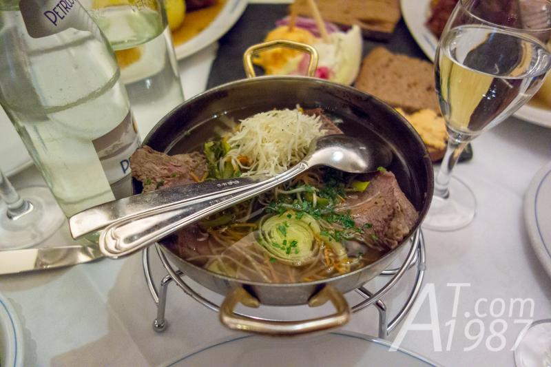 Boiled Bavarian Beef at Zum Franziskaner